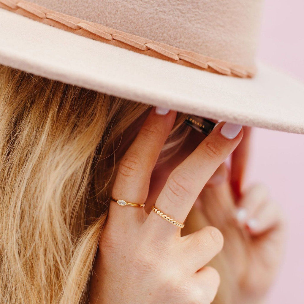 Beaded Slim Stacking Ring Rings Chloe + Lois