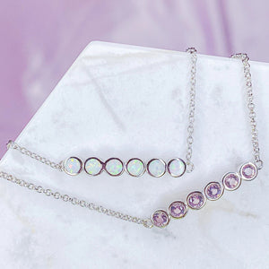 Dainty Opal and Cubic Zirconia Bracelet Chloe and Lois