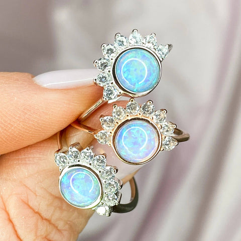 Dainty Opal Stacking Ring Chloe and Lois