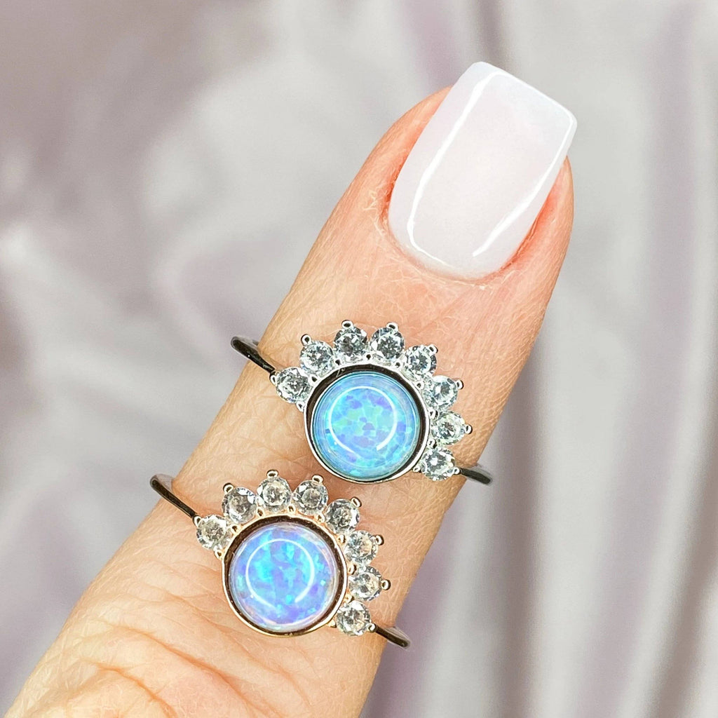 """Lois"" Ring in Blue Opal Rings Chloe + Lois"