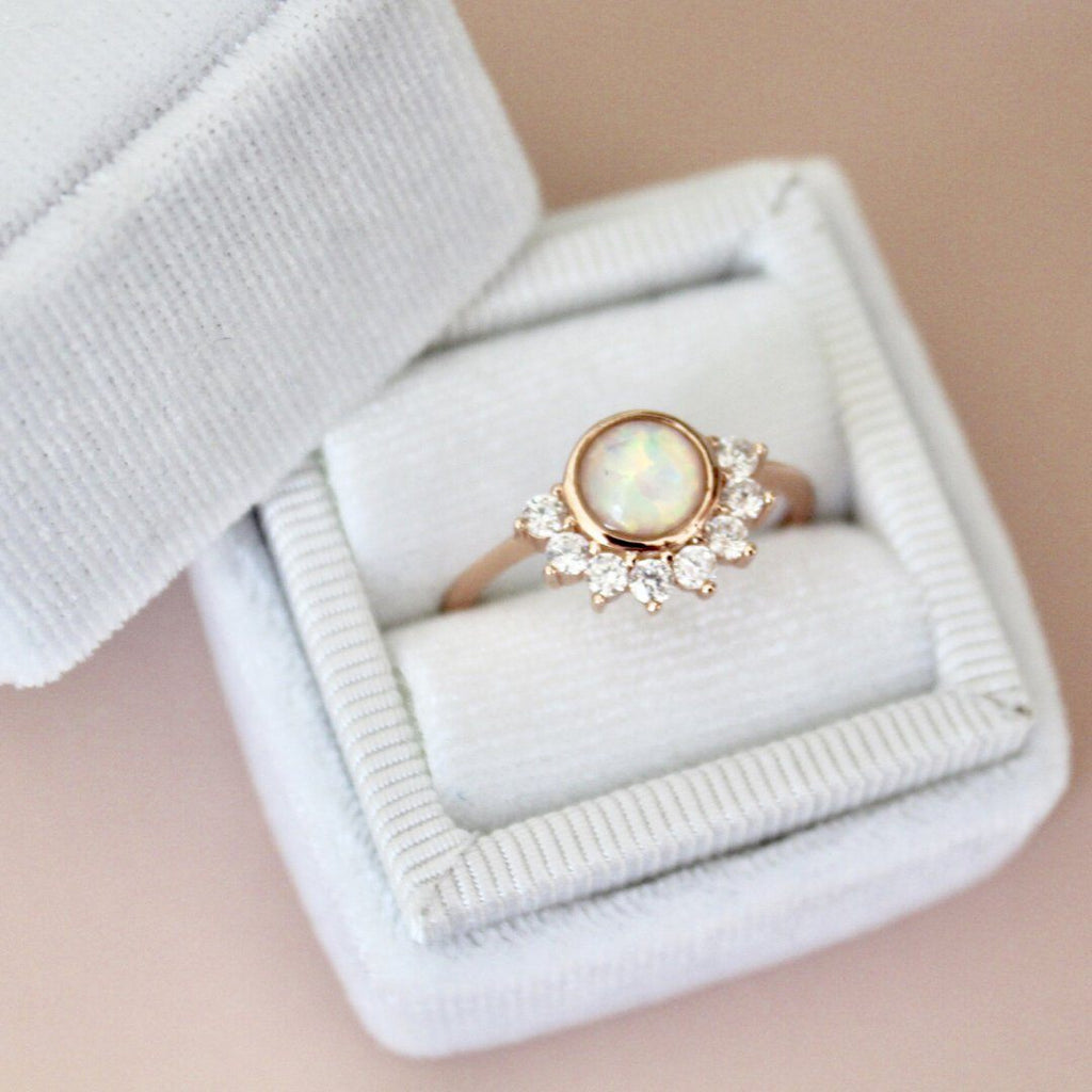 """Lois"" Ring in White Opal Rings Chloe + Lois"