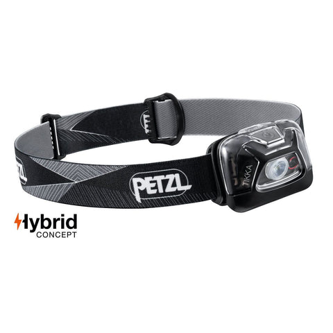 Black Petzl Tikka Head Torch E093FA00 | JM Active