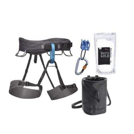 Black Diamond Momentum Men's Harness Package-Climbing Harness-Black Diamond-JM Active | Rock Climbing