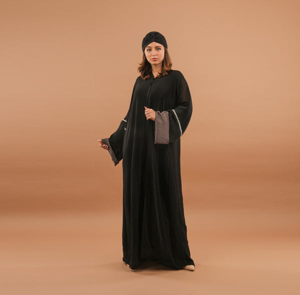 BACK CROSS OVER CRYSTAL ABAYA