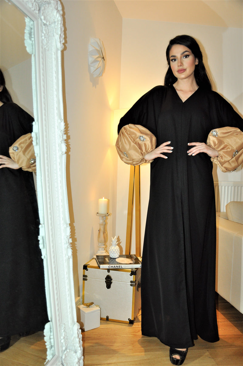 GOLD BALLOON SLEEVE ABAYA