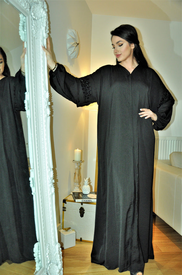 CUFF SLEEVE ABAYA WITH ARM EMBROIDERY