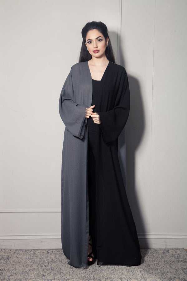 DOUBLE COLOUR LINEN ABAYA