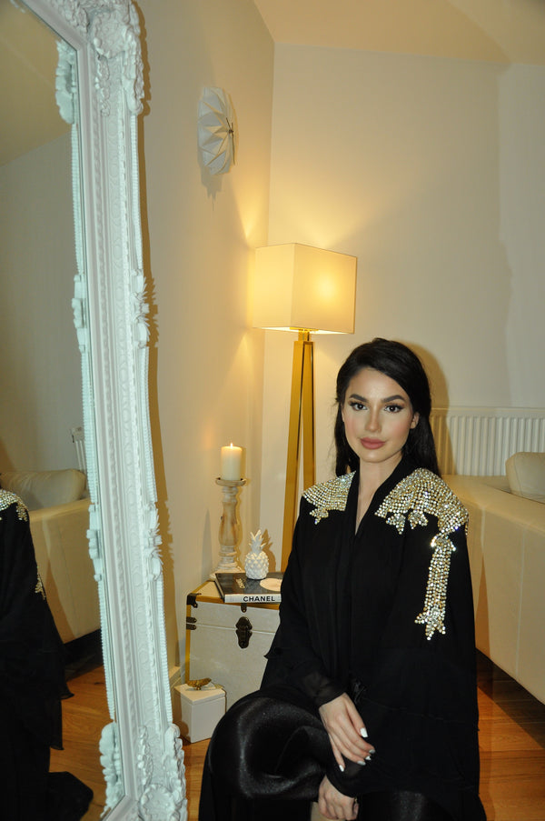GRANDEUR GOLD EMBROIDERY ABAYA