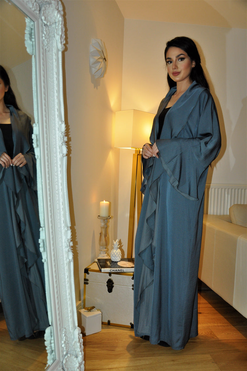POWDER BLUE WATERFALL ABAYA