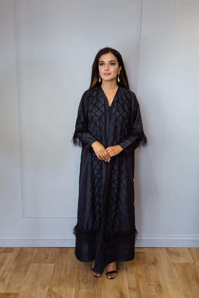 FEATHER BEAD ABAYA