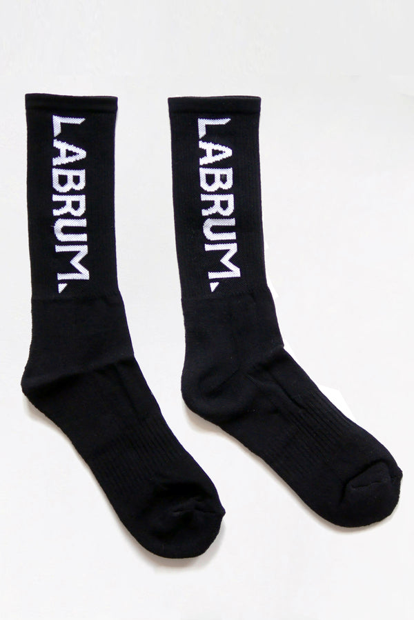 BLACK RIBBED SOCK IN LIGHT WEIGHT COTTON