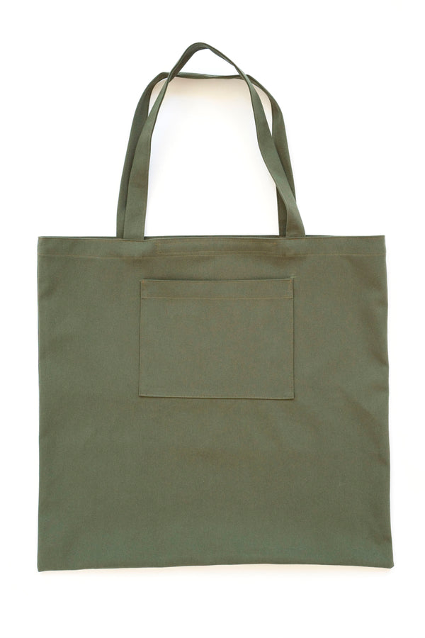 Water Repellent Oversized Tote Bag Green