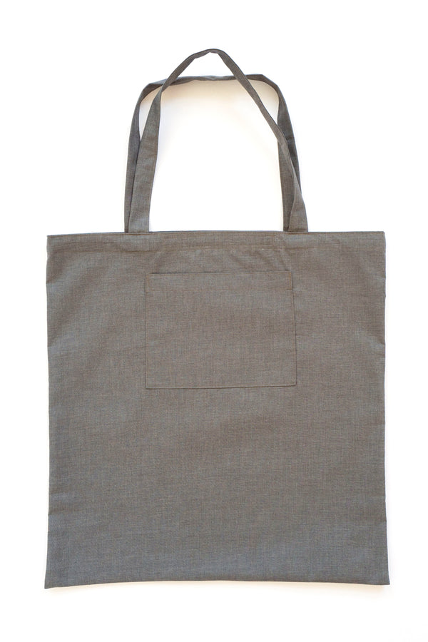 Water Repellent Oversized Tote Bag Grey