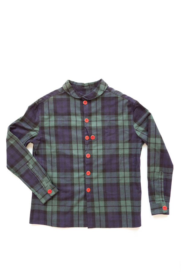Shawl Collar Oversized Flannel Shirt