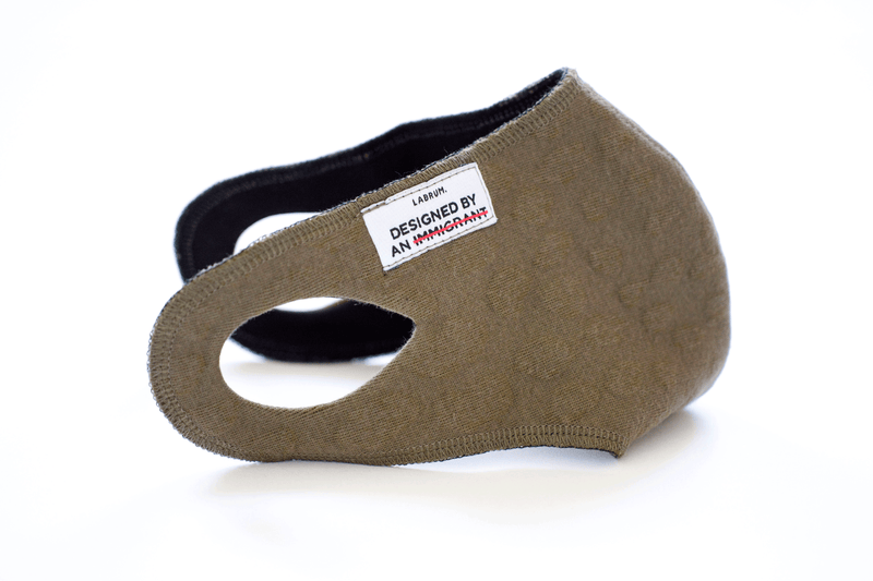Olive Green Washable and Reusable Mask