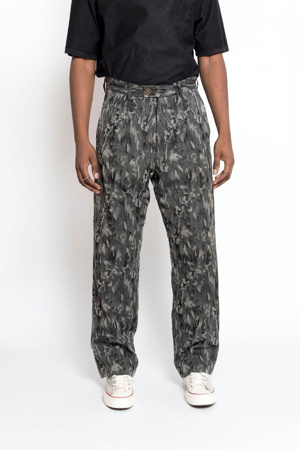 WIDE-LEG JACQUARD TROUSERS