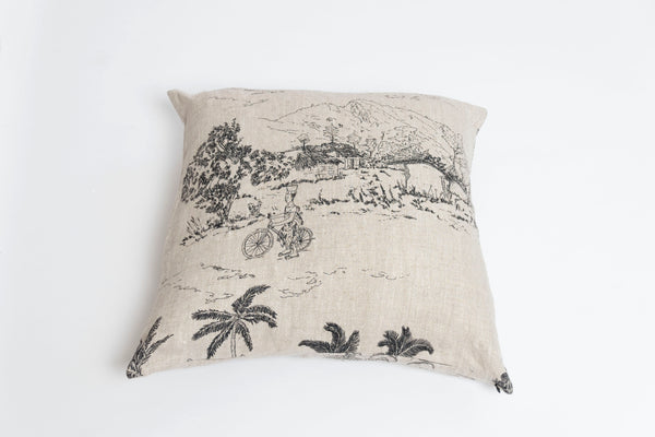 Freetown Print 100% Linen Cushion