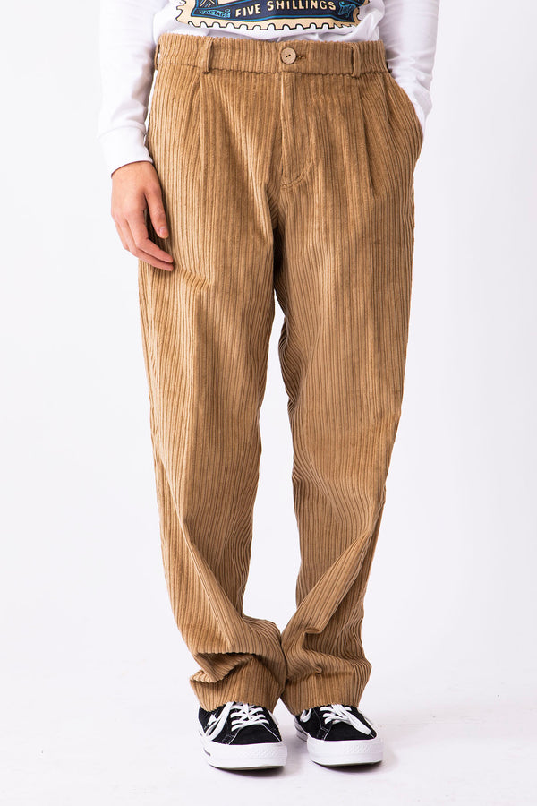 Camel Cotton Corduroy Trousers