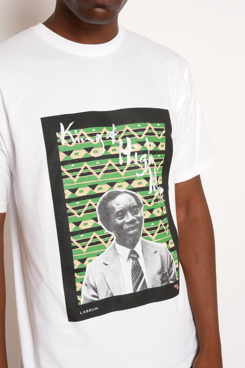 WHITE KING OF HIGHLIFE T-SHIRT