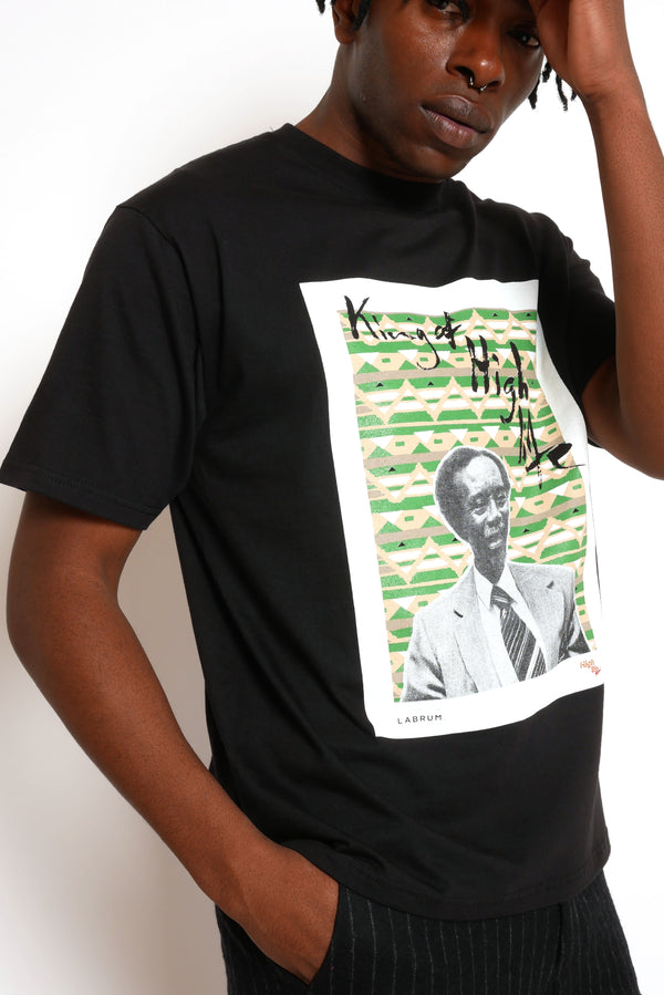 BLACK KING OF HIGHLIFE T-SHIRT