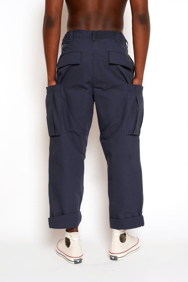 CARGO PANT WITH ELASTICATED SIDE POCKETS