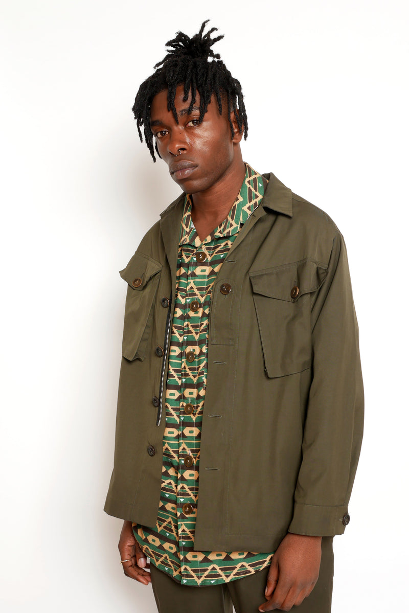 Wendell Richardson Work Shirt Jacket Green