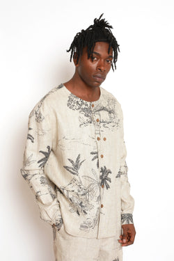 Made to Order: FREETOWN ILLUSTRATED COLLARLESS SHIRT