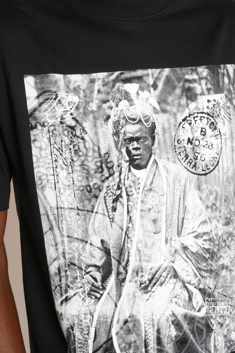 THE BLACK PRINCE NAIMBANA BLACK T-SHIRT