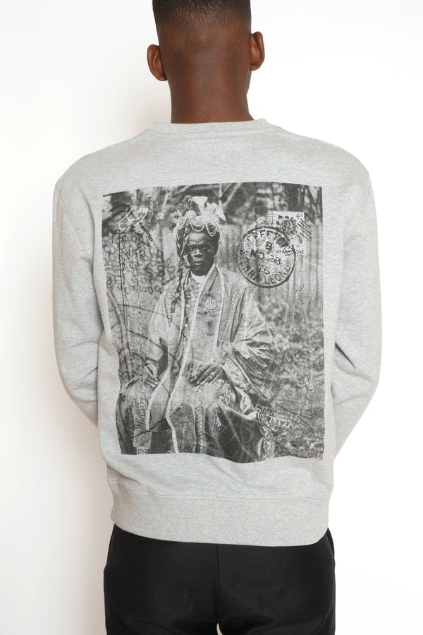 THE BLACK PRINCE NAIMBANA GREY SWEATSHIRT