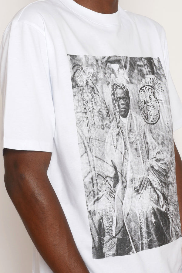 THE BLACK PRINCE NAIMBANA WHITE T-SHIRT