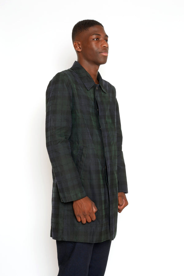 BLACKWATCH TARTAN WAX OVERCOAT