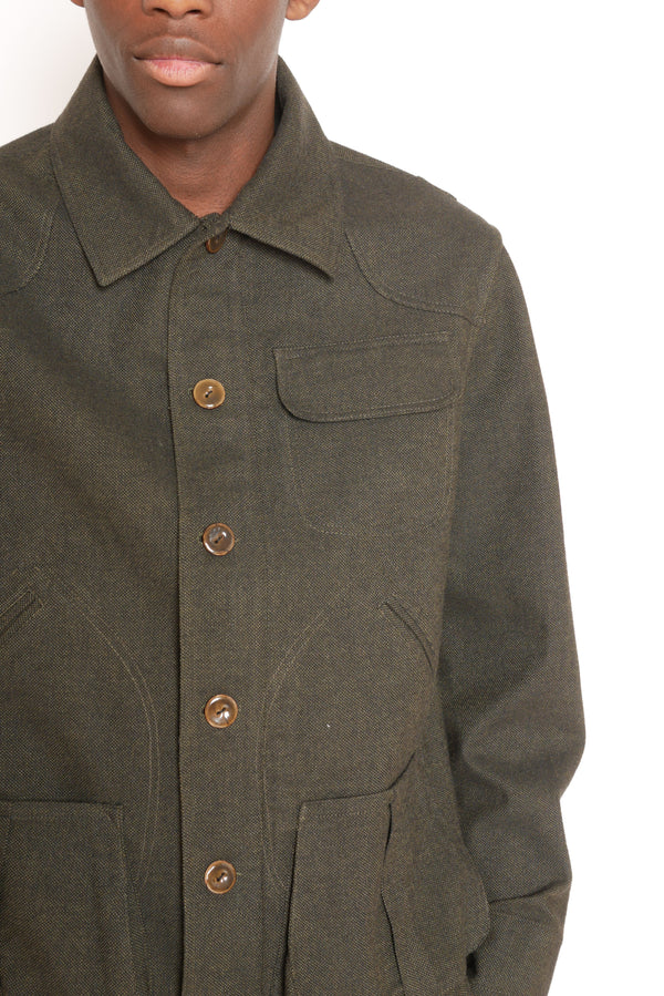 Deep Forrest Green Hunting Jacket