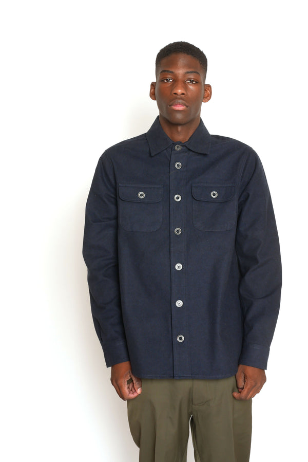 NAVY HEAVY COTTON SHIRT