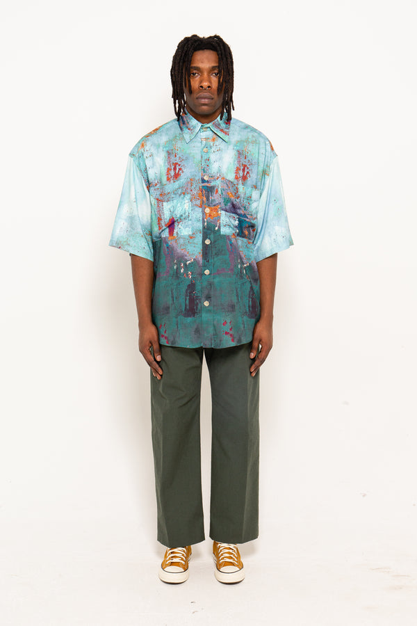 Shortsleeve Multicolour Print Shirt