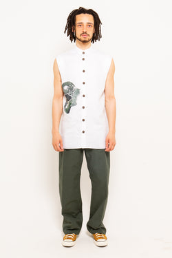Pademba Sleeveless Shirt White