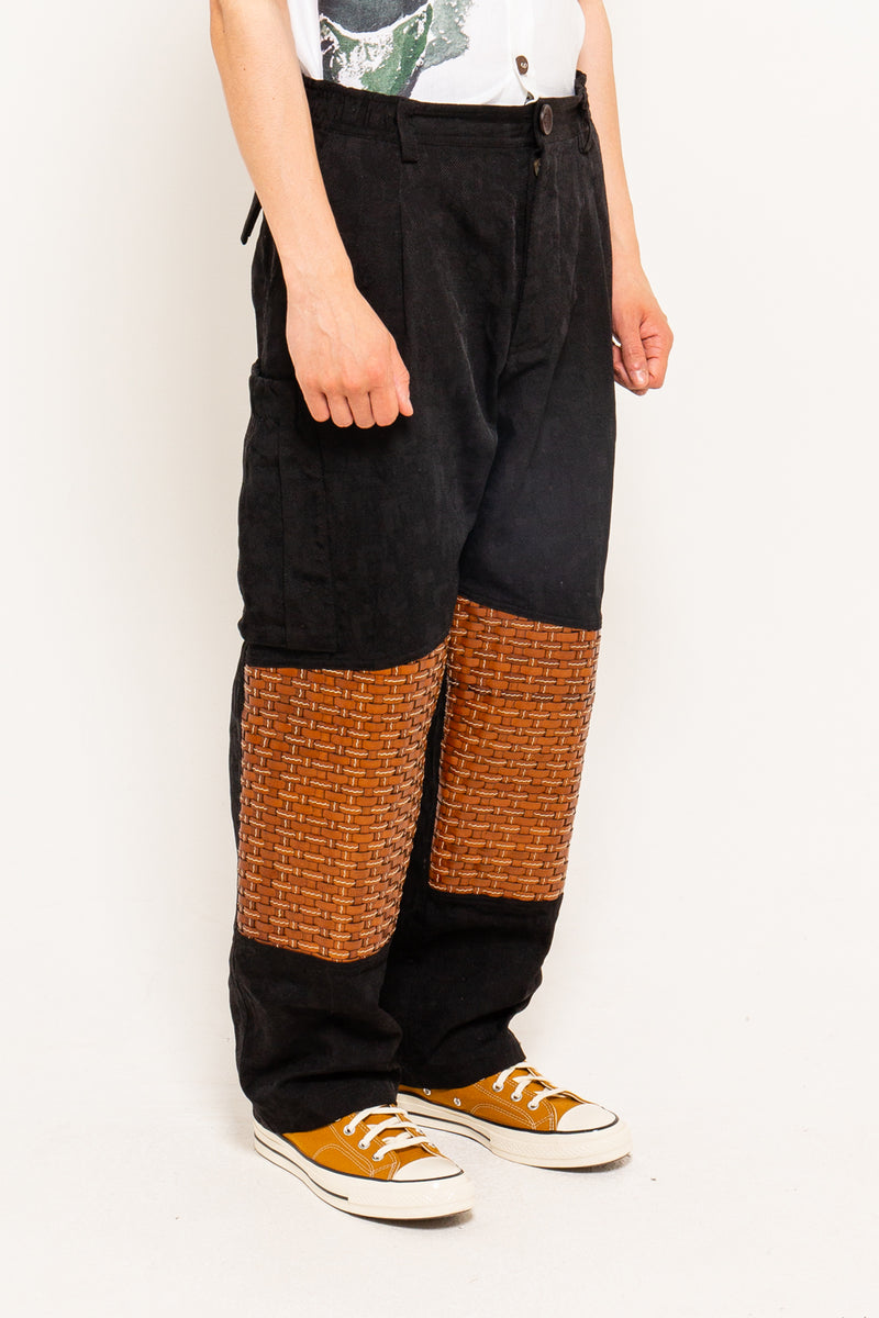 Bethan Cargo Pants With Woven Leather Patch