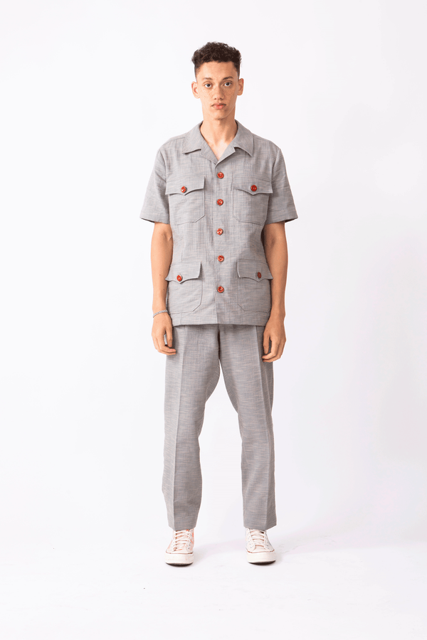 Multi-pocket Safari Shirt