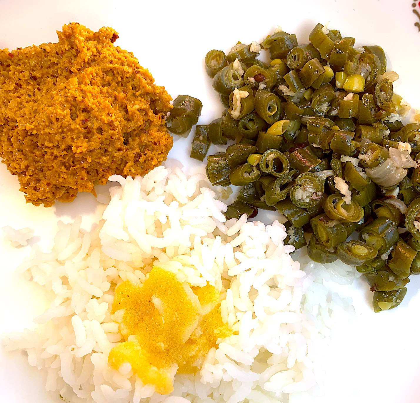 Girija Paati's Thengai Thogayal (Spicy Coconut Rice Mix Paste)