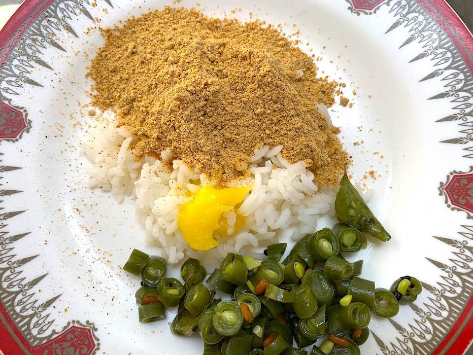 Paruppu Podi with Rice & Beans