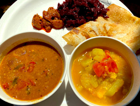 Arachuvitta Sambar – GirijaPaati Style South Indian traditional vegetarian recipes from an Indian grandmother's kitchen www.girijapaati.com