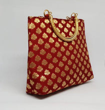 Load image into Gallery viewer, Red Gold Handle Bag