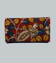 Load image into Gallery viewer, Ikkat Kalamkari Clutch