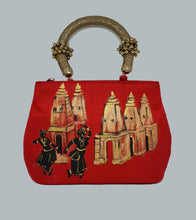 Load image into Gallery viewer, Bharatanatyam Art Painted Bag
