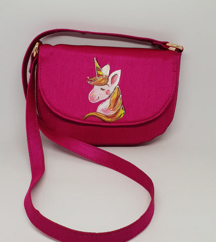 Unicorn Handpainted Sling Bag