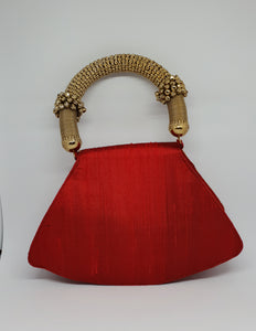 Red Ghungroo handle Tanjore