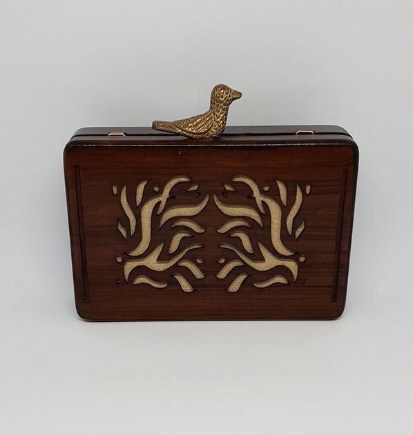 Wooden Box Clutch