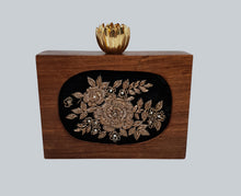 Load image into Gallery viewer, Wooden Embroidered Clutch