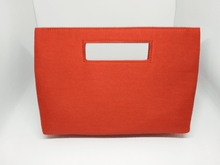 Load image into Gallery viewer, Orange Painted Inside Handle Bag