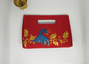 Red Painted Inside Handle Bag