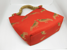 Load image into Gallery viewer, Orange Antique Handle Bag